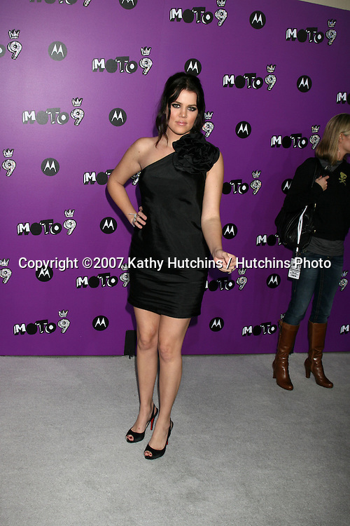 "Khloe Kardashian.Motorola 9 Party.""The Lot"".Los Angeles,  CA.November 8, 2007.©2007 Kathy Hutchins / Hutchins Photo...               ."