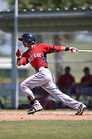 Boston Red Sox Mauricio Dubon (7) during a minor league spring training game against the Baltimore Orioles on March 20, 2015 at Buck O'Neil Complex in Sarasota, Florida.  (Mike Janes/Four Seam Images)