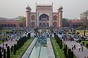 India, Agra, entrance gate  of Taj Mahal,
