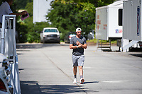 Rory McIlroy (NIR) makes his way through the parking lot to the course before round 2 of the 2019 Tour Championship, East Lake Golf Course, Atlanta, Georgia, USA. 8/23/2019.<br /> Picture Ken Murray / Golffile.ie<br /> <br /> All photo usage must carry mandatory copyright credit (© Golffile | Ken Murray)