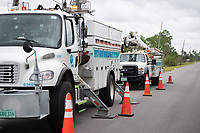 FPL crews restoring powering during Hurricane Dorian in Vero Beach, Fla. on September 4, 2019