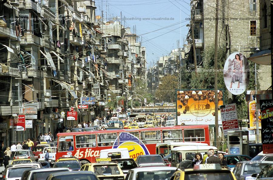 SYRIA, Aleppo, street traffic / SYRIEN Aleppo, Strassenverkehr