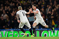 Watford's Daryl Janmaat (right) celebrates with team mate Valon Behrami scoring his sides second goal       <br /> <br /> <br /> Photographer Craig Mercer/CameraSport<br /> <br /> The Premier League - Chelsea v Watford - Monday 15th May 2017 - Stamford Bridge - London<br /> <br /> World Copyright &copy; 2017 CameraSport. All rights reserved. 43 Linden Ave. Countesthorpe. Leicester. England. LE8 5PG - Tel: +44 (0) 116 277 4147 - admin@camerasport.com - www.camerasport.com