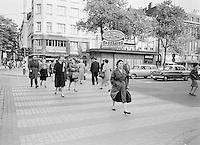 Zebrapad op de Leien in Antwerpen.