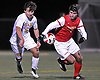 Cole Orent #6 of St. Anthony's, left, and Nicholas Giovino #3 of Chaminade battle for possession during the Nassau-Suffolk CHSAA varsity boys soccer championship at Adelphi University on Sunday, Nov. 6, 2016.