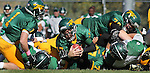 SPEARFISH, S.D. -- Black Hills State quarterback Ward Anderson #17 squeezed through the pile for a touchdown against Adams State during their Rocky Mountain Athletic Conference college football game Saturday afternoon at Lyle Hare Stadium in Spearfish, S.D. (Photo by Richard Carlson/Inertia) (Photo by Richard Carlson/Inertia)
