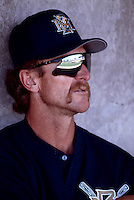 Milwaukee Brewers Coach Robin Yount during a game at Maryvale Baseball Park in Phoenix, Arizona during the 1997 Spring Training season.(Larry Goren/Four Seam Images)