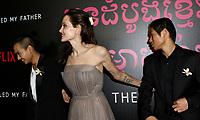 www.acepixs.com<br /> <br /> September 14 2017, New York City<br /> <br /> Maddox Jolie-Pitt , Director Angelina Jolie and Pax Jolie-Pitt arriving at a screening of 'First They Killed My Father' at the DGA theatre on September 14, 2017 in New York City.<br /> <br /> By Line: Nancy Rivera/ACE Pictures<br /> <br /> <br /> ACE Pictures Inc<br /> Tel: 6467670430<br /> Email: info@acepixs.com<br /> www.acepixs.com