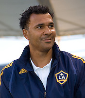 LA Galaxy head coach Ruud Gullit before the start of the game. The Colorado Rapids defeated the LA Galaxy 1-0 during the preliminary rounds of the 2008 US Open Cup at Home Depot Center stadium in Carson, Calif., on Tuesday, May 27, 2008.