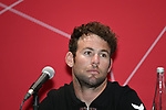 The 2019 UAE Tour, Mark Cavendish (GBR) Team Dimension Data spoke to the media this afternoon in Louvre Abu Dhabi, United Arab Emirates. 23rd February 2019.<br />