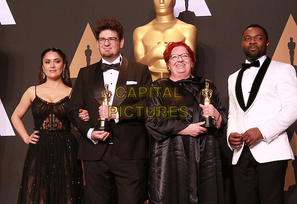 26 February 2017 - Hollywood, California - Salma Hayek, Kristof Deak, Anna Udvardy David Oyelowo. 89th Annual Academy Awards presented by the Academy of Motion Picture Arts and Sciences held at Hollywood &amp; Highland Center. <br /> CAP/ADM/TB<br /> &copy;TB/ADM/Capital Pictures