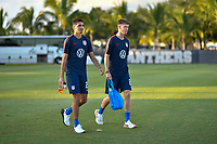 Miami, FL - Tuesday, October 15, 2019:  Manny Perez #23, Christian Cappis #24 during a friendly match between the USMNT U-23 and El Salvador at FIU Soccer Stadium.