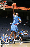 C/F Derrick Favors (Atlanta, GA / South Atlanta) shoots the ball during the NBA Top 100 Camp held Saturday June 23, 2007 at the John Paul Jones arena in Charlottesville, Va. (Photo/Andrew Shurtleff)
