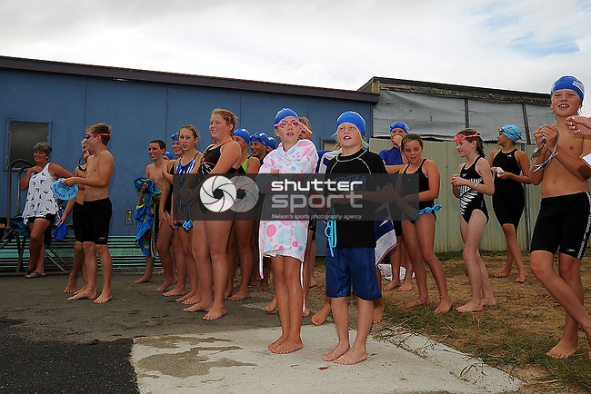 2013 School Swimming Champs at Motueka High School. Motueka, Nelson, New Zealand. Saturday 16 March 2013. Photo: Chris Symes/www.shuttersport.co.nz