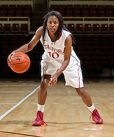 Briana Roberson with Stanford Women's basketball team. Photo taken on Wednesday, October 2, 2013