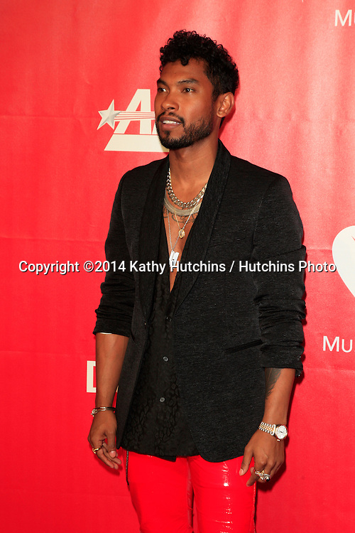 LOS ANGELES - JAN 24:  Miguel at the 2014 MusiCares Person of the Year Gala in honor of Carole King at Los Angeles Convention Center on January 24, 2014 in Los Angeles, CA