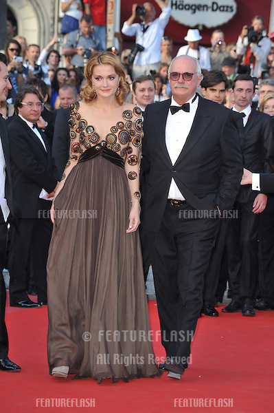 """Director Nikita Mikhalkov &  actress Nadezhda Mihalkova at the premiere of their movie """"Exodus - Burnt by the Sun"""" at the 63rd Festival de Cannes..May 22, 2010  Cannes, France.Picture: Paul Smith / Featureflash"""