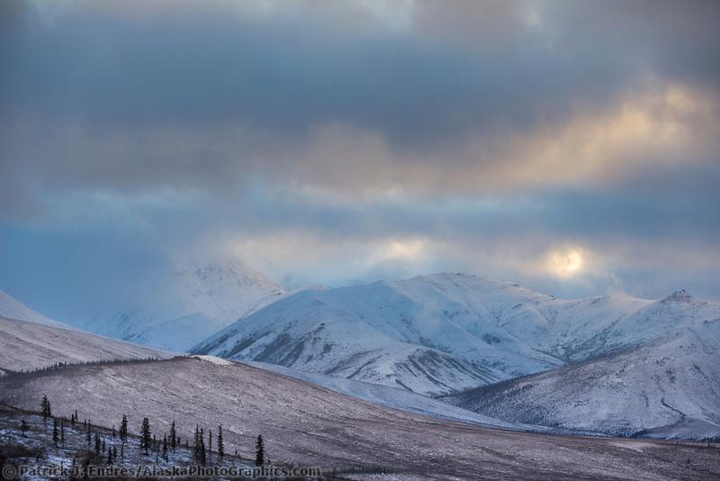 Winter scenic, Brooks mountain range, Alaska
