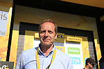 Tour Director Christian Prudhomme ASO at the summit of Col d'Izoard after Stage 18 of the 104th edition of the Tour de France 2017, running 179.5km from Briancon to the summit of Col d'Izoard, France. 20th July 2017.<br /> Picture: Eoin Clarke | Cyclefile<br /> <br /> All photos usage must carry mandatory copyright credit (&copy; Cyclefile | Eoin Clarke)