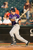 Wes Hodges (11) of the Akron Aeros follows through on his swing at Prince Georges Stadium in Bowie, MD, Tuesday June 17, 2008.