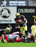 06 September 08: Colorado tailback Rodney Stewart (43) runs against Eastern Washington. The Colorado Buffaloes defeated the Eastern Washington Eagles 31-24 at Folsom Field in Boulder, Colorado. FOR EDITORIAL USE ONLY