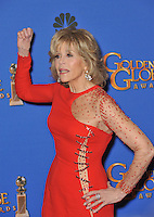 Jane Fonda at the 72nd Annual Golden Globe Awards at the Beverly Hilton Hotel, Beverly Hills.<br /> January 11, 2015  Beverly Hills, CA<br /> Picture: Paul Smith / Featureflash