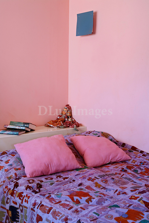 contemporary pink bedroom