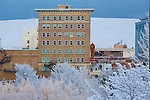 The Wilma building in Missoula, Montana on a snowy day