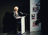 "Sue Frett, County Secretary for Special Olympics Surrey, welcoming eveyone to the show.   Special Olympics Surrey put on a show,   ""Beyond the Stars"", at the Rose Theatre, Kingston upon Thames to raise money for the  SOGB team.  The Special Olympics are for athletes with learning disabilities."