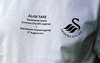 The commemorative shirt worn by Alan Curtis during the Swansea Legends v Manchester United Legends at The Liberty Stadium, Swansea, Wales, UK. Wednesday 09 August 2017