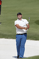 Patrick Reed (USA) hits out of a sand trap on the 9th hole during the first round of the 100th PGA Championship at Bellerive Country Club, St. Louis, Missouri, USA. 8/9/2018.<br /> Picture: Golffile.ie | Brian Spurlock<br /> <br /> All photo usage must carry mandatory copyright credit (© Golffile | Brian Spurlock)