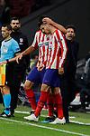 Alvaro Morata of Atletico de Madrid celebrates goal during the UEFA Europa League match between Atletico de Madrid and Bayer 04 Leverkusen at Wanda Metropolitano Stadium in Madrid, Spain. October 22, 2019. (ALTERPHOTOS/A. Perez Meca)