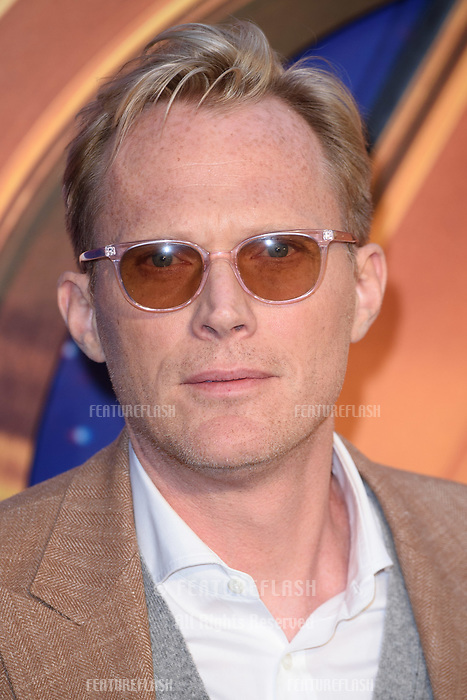 Paul Bettany arriving for the &quot;Avengers: Infinity War&quot; fan event at the London Television Studios, London, UK. <br /> 08 April  2018<br /> Picture: Steve Vas/Featureflash/SilverHub 0208 004 5359 sales@silverhubmedia.com