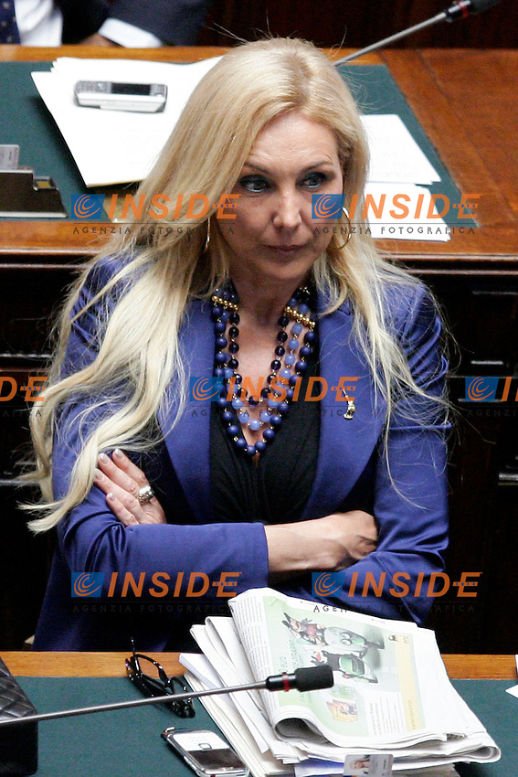 FRANCESCA MARTINI LEGA NORD..Roma 02/08/2011 Camera dei Deputati. Voto sul rifinanziamento delle missioni internazionali...Photo Samantha Zucchi Insidefoto