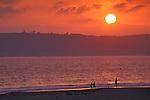 Sunset over Pint Loma from+Coronado Beach, Coronado, San Diego County, CALIFORNIA