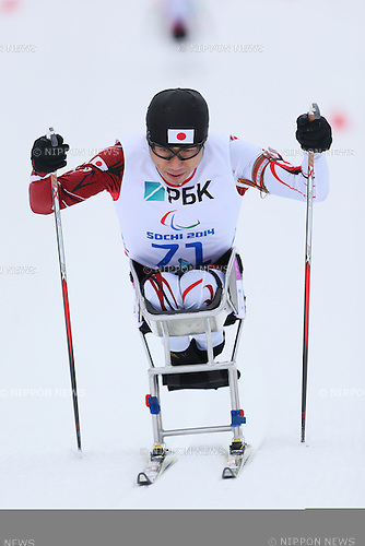 Kozo Kubo (JPN), <br /> MARCH 14, 2014 - Biathlon : <br /> Men's 15km Sitting<br /> at &quot;LAURA&quot; Cross-Country Ski &amp; Biathlon Center <br /> during the Sochi 2014 Paralympic Winter Games in Sochi, Russia. <br /> (Photo by Yohei Osada/AFLO SPORT) [1156]