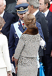Infanta Elena of Spain and his brother Felipe Prince of Spain during the National Day Military Parad.October 12,2012.(ALTERPHOTOS/Acero)