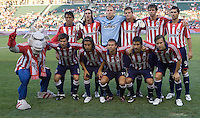 Chivas USA starting XI. Chivas USA defeated the Chicago Fire 2-0 at the Home Depot Center stadium in Carson, California on Thursday, June 19, 2008.