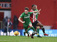 Preston's Alan Browne and Preston North End's Romaine Sawyers<br /> <br /> Photographer Jonathan Hobley/CameraSport<br /> <br /> The EFL Sky Bet Championship - Brentford v Preston North End - Saturday 10th February 2018 - Griffin Park - Brentford<br /> <br /> World Copyright &copy; 2018 CameraSport. All rights reserved. 43 Linden Ave. Countesthorpe. Leicester. England. LE8 5PG - Tel: +44 (0) 116 277 4147 - admin@camerasport.com - www.camerasport.com