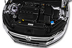 Car Stock 2018 Volkswagen Arteon Elegance 5 Door Hatchback Engine  high angle detail view