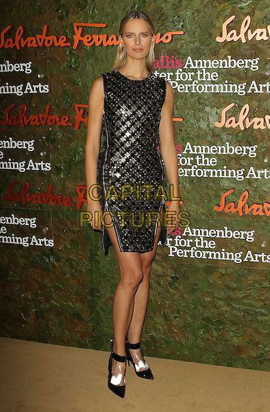 Karolina Kurkova<br /> Wallis Annenberg Center For The Performing Arts Inaugural Gala held at Wallis Annenberg Center For The Performing Arts,  Beverly Hills, California, USA, 17th October 2013.<br /> full length black gold dress zip sleeveless white feet shoes foot zips <br /> CAP/ADM/KB<br /> &copy;Kevan Brooks/AdMedia/Capital Pictures