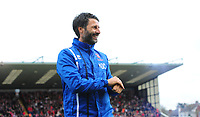 Lincoln City manager Danny Cowley<br /> <br /> Photographer Chris Vaughan/CameraSport<br /> <br /> The EFL Sky Bet League Two - Lincoln City v Chesterfield - Saturday 7th October 2017 - Sincil Bank - Lincoln<br /> <br /> World Copyright &copy; 2017 CameraSport. All rights reserved. 43 Linden Ave. Countesthorpe. Leicester. England. LE8 5PG - Tel: +44 (0) 116 277 4147 - admin@camerasport.com - www.camerasport.com