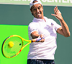 March 29, 2016: Richard Gasquet (FRA) loses to Tomas Berdych (CZE), 6-4, 3-6, 7-5, at the Miami Open being played at Crandon Park Tennis Center in Miami, Key Biscayne, Florida. ©Karla Kinne/Tennisclix/Cal Sports Media