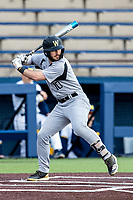 Western Michigan Broncos third baseman Jimmy Roche (10) at bat against the Michigan Wolverines on March 18, 2019 in the NCAA baseball game at Ray Fisher Stadium in Ann Arbor, Michigan. Michigan defeated Western Michigan 12-5. (Andrew Woolley/Four Seam Images)