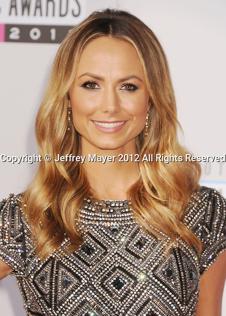 LOS ANGELES, CA - NOVEMBER 18: Stacy Keibler attends the 40th Anniversary American Music Awards held at Nokia Theatre L.A. Live on November 18, 2012 in Los Angeles, California.