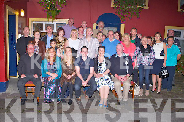 RING TIME: Aoife Collins, Manor, Tralee and Brian O'Donoghue, Camp (seated centre) celebrating their engagement with family and friends at the Munster bar, Tralee on Saturday.