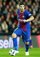 FC Barcelona's Luis Suarez during Spanish King's Cup Semi Final 2nd match. February 8,2018. (ALTERPHOTOS/Acero)
