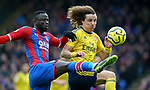 Crystal Palace's Cheikhou Kouyate is challenged by Arsenal's David Luiz during the Premier League match at Selhurst Park, London. Picture date: 11th January 2020. Picture credit should read: Paul Terry/Sportimage