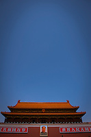 "Daytime vertical view of ""The Gate of Heavenly Peace"" in the Zijin Cheng from Dong Chang An Jie in Dongcheng, Beijing  © LAN"