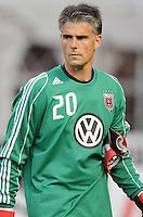 D.C. United goalkeeper Pat Onstad (20) File photo RFK stadium 2011 season.